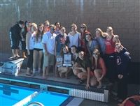 FSHA's varsity swim team at the Just Carr Relays.