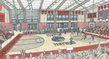 The Events Center & Means Alumni Gym Construction