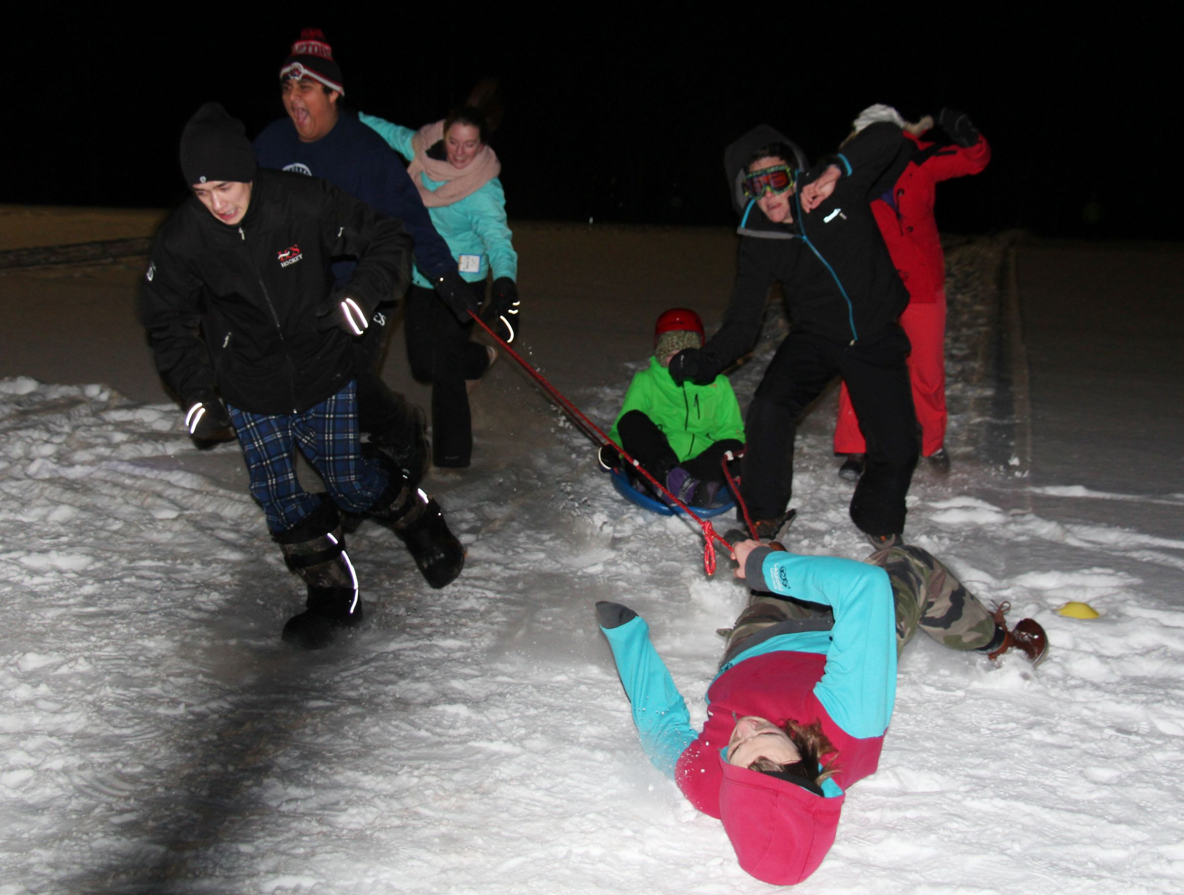 Students braved the cold temperatures at Katchewanooka Rod, our version of the Iditarod!