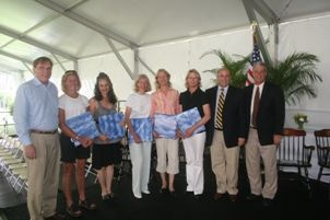 Members of the 1980 Girls Varsity Tennis Team gathered for their induction into the Athletic Hall of Fame during the 2010 Reunion.